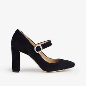 New ANN TAYLOR Elaine Suede MaryJane Black Pump